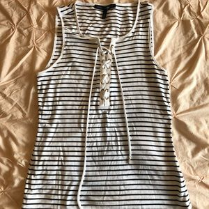 Striped Black and White tank top